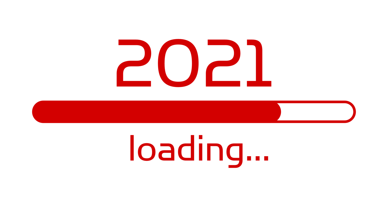 Download von iXimus.de: Ladebalken Grafik Jahreswechsel, 2021, glückliches neues Jahr, Grüße, Silvester, Neujahr, weiß, rot, #000405