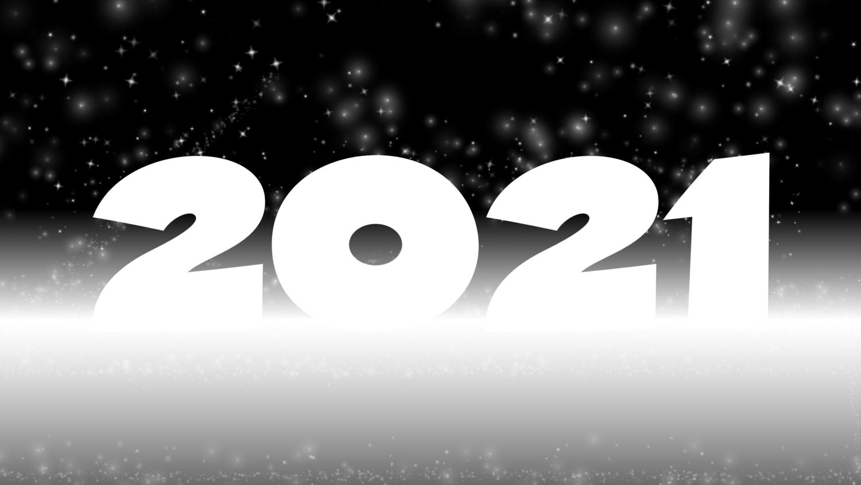 Download von iXimus.de: Grafik Jahreswechsel 2021, glückliches neues Jahr, guten Rutsch, Silvester, Neujahr, schwarz-weiß, #000414