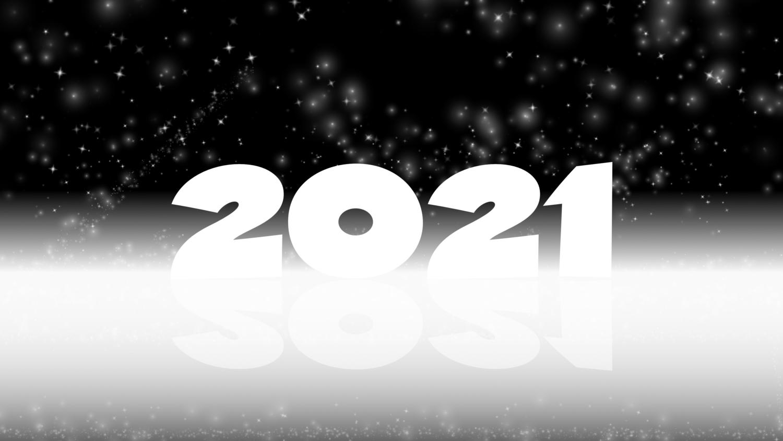 Download von iXimus.de: Grafik Jahreswechsel 2021, glückliches neues Jahr, guten Rutsch, Silvester, Neujahr, schwarz-weiß, gespiegelt, #000415