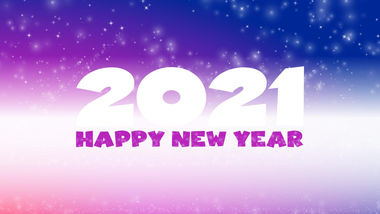 Download von iXimus.de: Grafik Jahreswechsel 2021, glückliches neues Jahr, guten Rutsch, Silvester, Neujahr, lila, gespiegelt, #000416