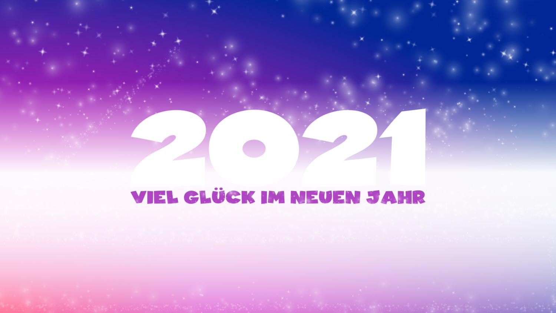 Download von iXimus.de: Grafik Jahreswechsel 2021, Viel Glück im neuen Jahr, guten Rutsch, Silvester, Neujahr, lila, #000419